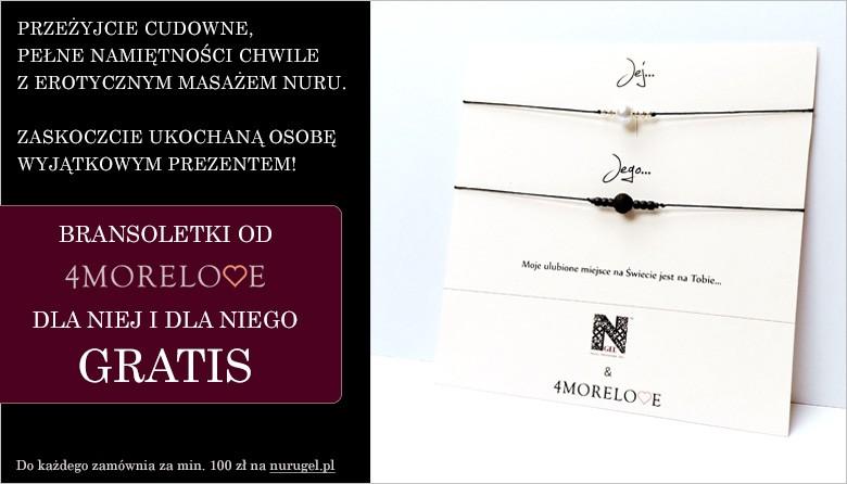 Zrób zakupy na nurugel.pl za minimum 100zł i odbierz prezent - zestaw bransoletek dla niej i dla niego